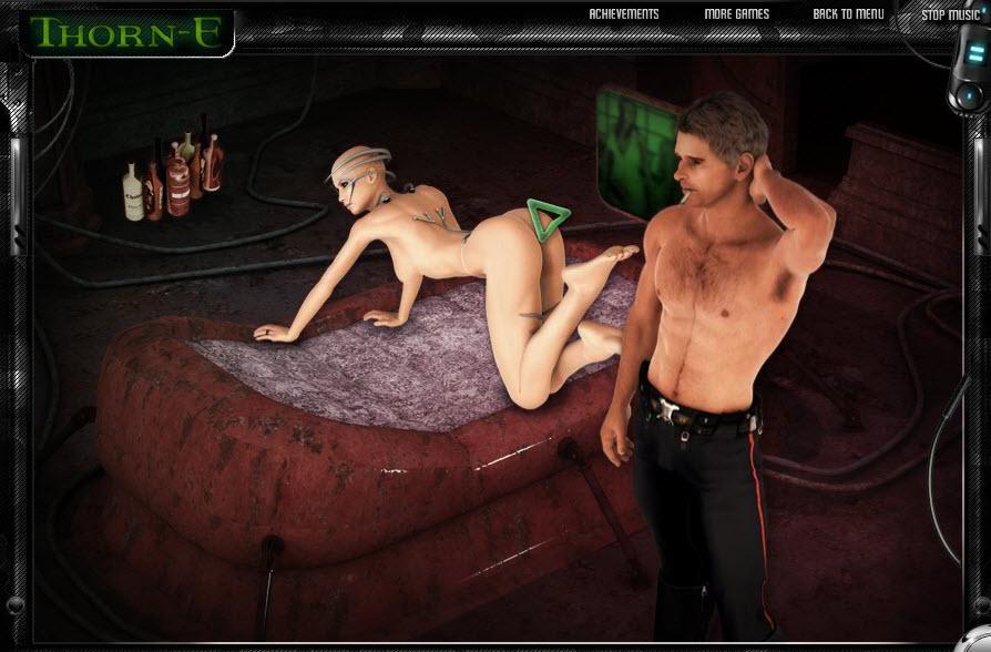ArrayМолодой мужчина играет с полной дамой в эротические ролевые игры.
